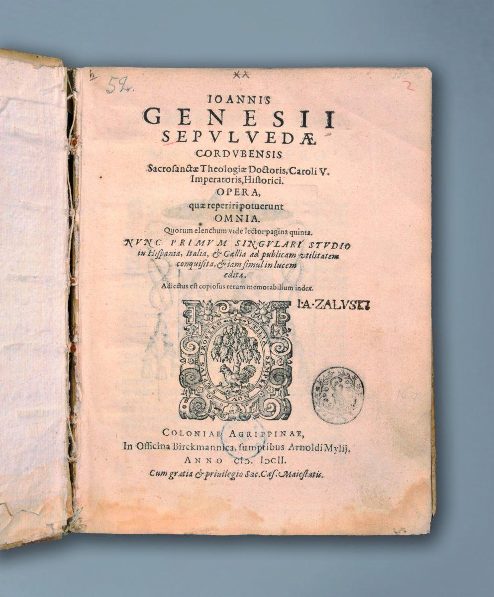 ekslibris Józefa Andrzeja Załuskiego