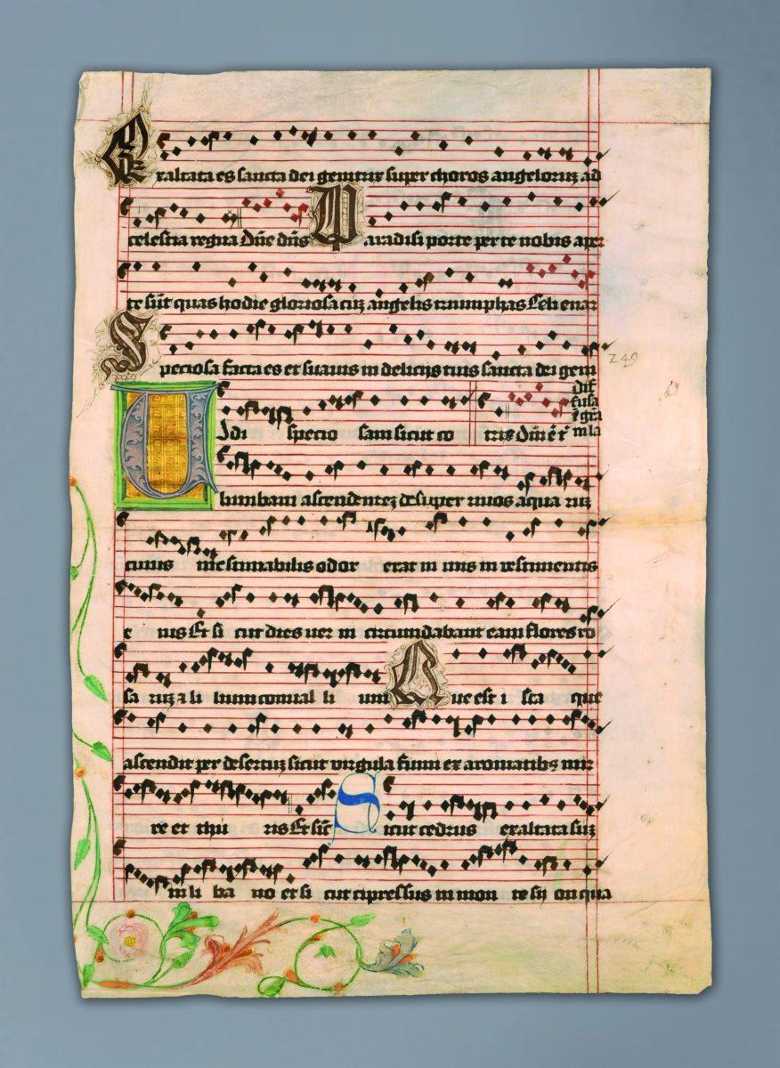 karta (prawdopodobnie) z mszału
