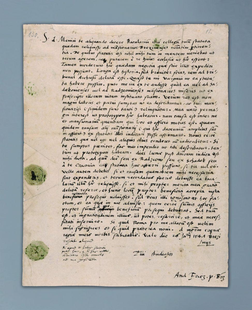 List Andrzeja Frycza Modrzewskiego